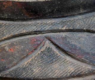 漆塗り土器の文様(郡山市 町B遺跡)